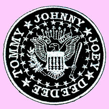 Ramones Punk Rock Music Band Logo Eagle Embroidered Iron On Patch Free Ship