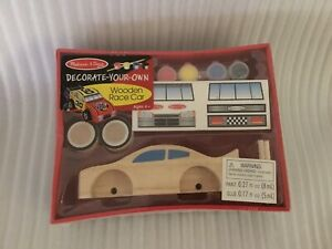 NEW Melissa & Doug Decorate Your Own Wooden Race Car
