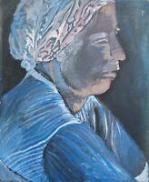 Brigitte Tietze Berlin Peinture À L'Huile Portrait Une Femme Expressiver