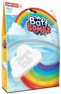 Rainbow Baff Bombz Cloud Fizz Children's Bath Bomb Zimpli Kids New Bath Bombs