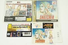 SNATCHER SS KONAMI Sega Saturn Spine Japan USED