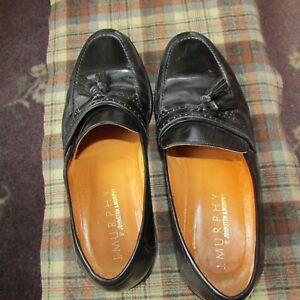 Johnston & Murphy Men's Black Slip-On Shoes 10M  11010  Made In Italy
