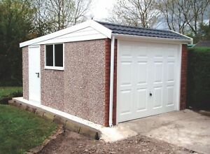 THE DUCHESS - SINGLE CONCRETE SECTIONAL GARAGE WITH PENT ROOF