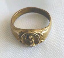 Ring Nang Kwak Brass Talisman For wealth Trade Charm Success Thai Amulet Buddha