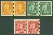 CANADA : 1930-31. Scott #178, 80, 81 pairs. Mint NH. Post Office Fresh. Cat $184