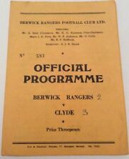 Away Teams C-E Clyde Scottish League Football Programmes