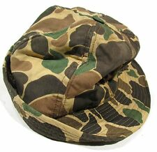 Vintage 60s Duck Hunter Camo Boonie Bucket Hat 7 1/4
