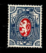 1919 WWI Czech Army (Legion) In Siberia Mint Stamp Original with Gum