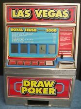 Vtg Las Vegas Draw Poker Machine Game Coin Bank Made in Hong Kong Works Casino