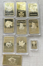 Estate Lot of 10 Gold Plated Bars