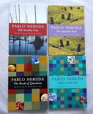 4 x Books by Pablo Neruda Still Another Day Stone of the Sky Book of Questions