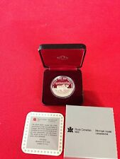 1985 CANADIAN MOOSE *100th ANNIV. NATIONAL PARKS* SILVER DOLLAR PROOF ~ CASE/COA