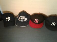 Lot of 4 NY Yankees 7 1/4 Fitted Snapback Blue Hat MLB Baseball Cap (hb13)