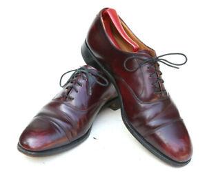 Cheaney Royal Tweed Custom Bench Handmade Burgundy Oxblood Oxford Dress Shoe 8D