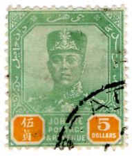(I.B) Malaya States Revenue : Johore Duty $5