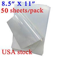 "US 8.5"" x 11"" Waterproof Inkjet Transparency Film for Screen Printing -50 Sheets"
