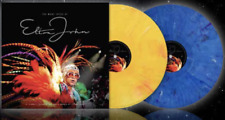 Elton John 'The Many Faces Of' New Ltd Edt 2x Yellow & Blue Vinyl LP NEW&SEALED