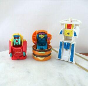 Lot of 3 Vintage McDonalds Changeables Transformer Toys 1990 Fries Burger Drink