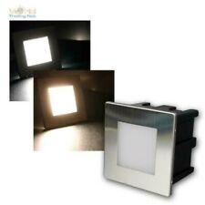 LED Lámpara Empotrable 230V 1,5W IP65, Anguloso Acero, Luz de Escalón por Etapas