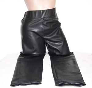schöne Kunstlederhose, Leggings von ONLY, Farbe Schwarz, Größe L