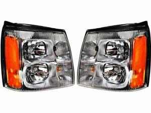 For 2002 Cadillac Escalade EXT Headlight Assembly Set 44618DR Headlight Assembly