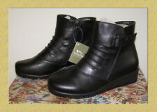 NEW size 7-7.5 SPRING STEP black Leather Booties Fall Winter Ankle boots 38