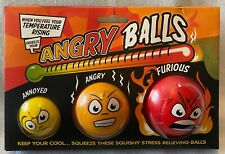 Stress Ball - Angry Meter - Annoyed / Angry / Furious - 3 Pack - Brand New