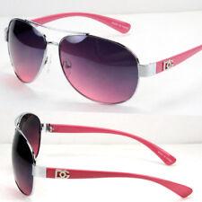 New DG Eyewear Pilot Designer Womens Fashion Sunglasses Shades Pink Wrap Round