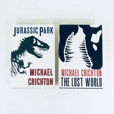 Jurassic Park & Lost World Hardcover Books 1995 1st Trade Edition Crichton FS