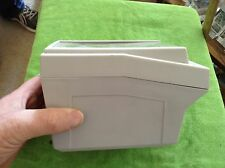 Gray plastic card case with see-through lid