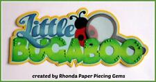LITTLE BUGABOO TITLE  BOY scrapbook premade paper piecing by Rhonda