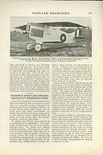 1919 Magazine Article Christmas Bullet Airplane Worst Plane in History Strutless