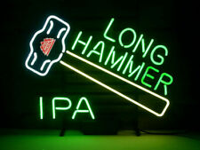 "New Redhook Long Hammer Ipa Bar Cub Decor Real Glass Neon Light Sign 20""x16"""
