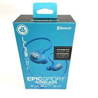JLab Audio Epic Sport Bluetooth 4.0 Wireless Fitness Splashproof Earbuds New