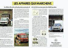 PUBLICITE ADVERTISING 106  1983  Mercedes-Benz (2p)  utilitaire 307 D & 407 D