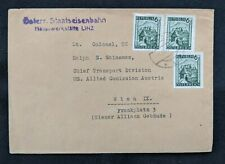 1947 Wien Austria Cover from US Lt Colonel US Army