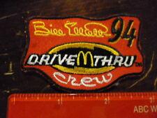Bill Elliot 94 Nascar mcdonalds drive through crew vintage rare patch badge