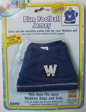 u Blue Football Jersey top fits most WEBKINZ cat dog pet CLOTHING new code