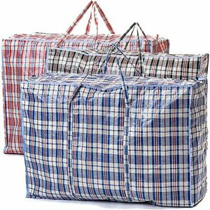 EXTRA LARGE Strong and Durable Laundry Bags | PACK of 5 | 80cm x 60cm | Storage