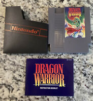 Nintendo NES Game Dragon Warrior w/ Manual & Dust Cover Tested Authentic