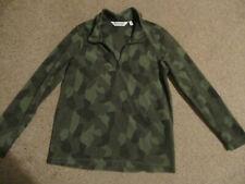 Boys green camouflage half zip fleece jumper, size 13, Regatta, VGC