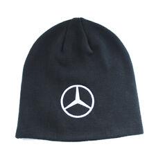 Mercedes Benz Beanie Mens Solid Knit Skull Hat Embroidered Logo Warm OSFA Sport