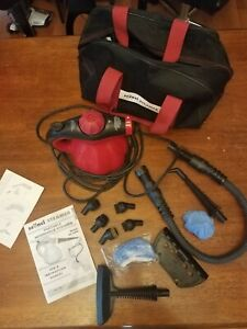 Scunci Steamer SS1000 Hand Held Steam Cleaner W/ Attachments, Manual, & Bag