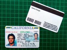 patente di guida Marty McFly - Ritorno al futuro prop replica - Doc, Biff BTTF