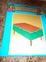 """New Luau Table Fringe 12"""" Wide 168"""" Around Grass Skirt For Table Party Decor Fun"""