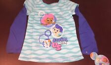 Bubble Guppies Toddler Girl Long Sleeve Blue Shirt Top New 4T