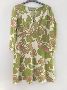 Boden Linen Floral Tunic Size 14