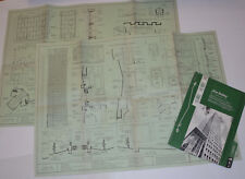 VINTAGE 1954 ALCOA BUILDING, PITTSBURGH, PA. BLUEPRINT/POSTER! ARCHITECT DETAILS