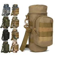 Outdoor Tactical Gear Military Molle Water Bottle Bag Kettle Pouch Holder Bag