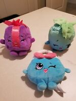 MOOSE Shopkins Plush LOT OF THREE FREE SHIPPING